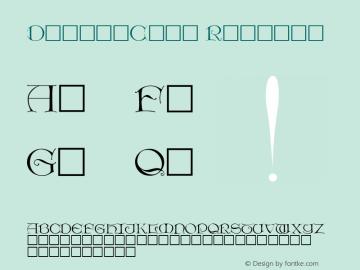 DieterCaps Regular Altsys Fontographer 3.5  11/26/92图片样张