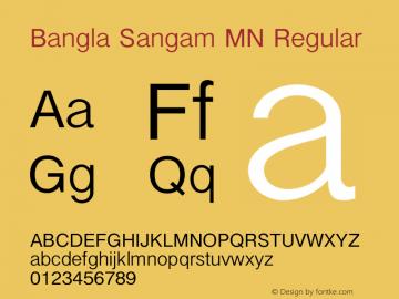 Bangla Sangam MN Regular 7.0d2e1 Font Sample