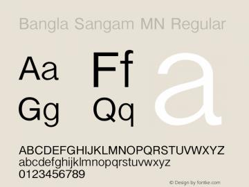 Bangla Sangam MN Regular 7.0d3e1 Font Sample