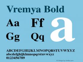 Vremya Bold Altsys Fontographer 3.5  6/26/92图片样张