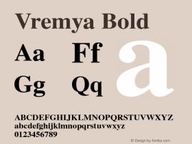Vremya Bold Altsys Fontographer 3.5  6/26/92 Font Sample