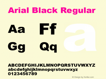 Arial Black Regular Version 2.40图片样张