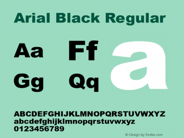 Arial Black Regular Version 2.36图片样张