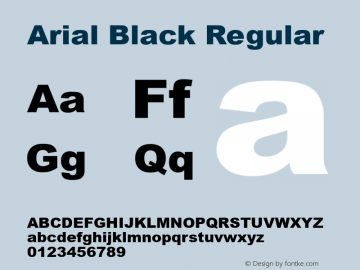 Arial Black Regular Version 5.21图片样张