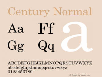 Century Normal 1.000 Font Sample