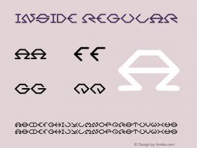 Inside Regular Version 1.00 January 10, 2013, initial release Font Sample