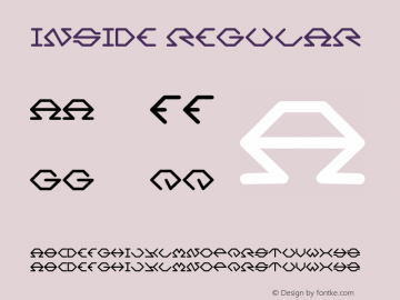 Inside Regular Version 1.00 January 10, 2013, initial release Font Sample