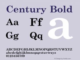 Century Bold 1.000 Font Sample
