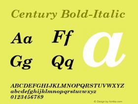 Century Bold-Italic 1.000 Font Sample