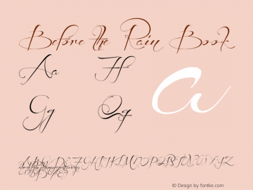 Before the Rain Book Version 001.000 Font Sample