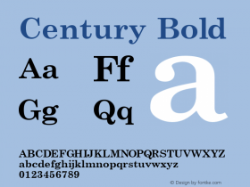 Century Bold Macromedia Fontographer 4.1 7/3/96 Font Sample