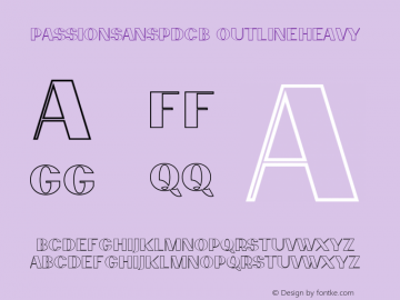 PassionSansPDcb OutlineHeavy Unknown Font Sample