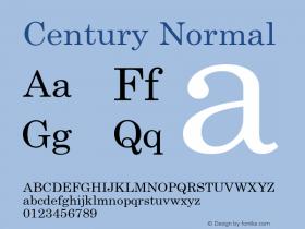 Century Normal 1.000 Font Sample