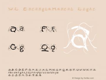 WL EntangleMental Light Version 1.000 Font Sample