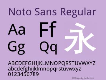Noto Sans Regular Version 6.00 Font Sample