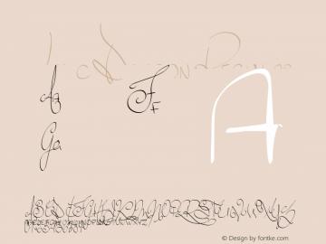 Lyric Dragon Regular Unknown Font Sample