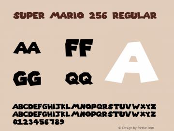 Super Mario 256 Font Family Super Mario 256 Uncategorized Typeface Fontke Com