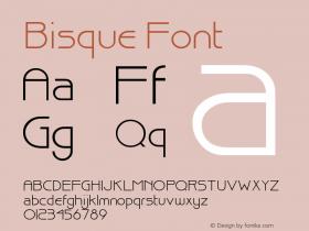 Bisque Font Version 001.000 Font Sample