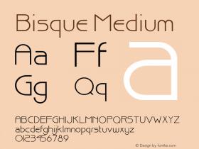 Bisque Medium 001.000 Font Sample