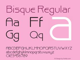 Bisque Regular 001.000 Font Sample