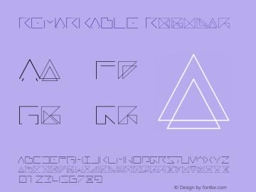 REMARKABLE Regular Version 1.000 Font Sample
