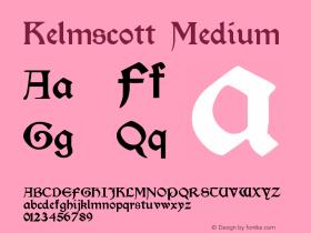 Kelmscott Medium Version 001.000图片样张