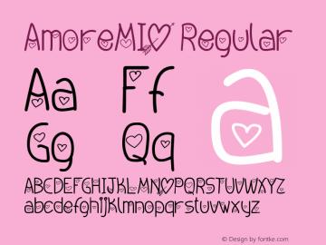 AmoreMIO Regular Version 1.00 January 11, 2013, initial release图片样张