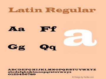 Latin Regular 3.1 Font Sample