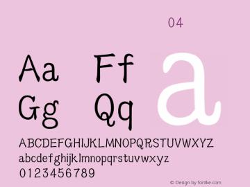 吳守禮標楷台語破音04 標準 Version 1.00 Font Sample