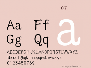 吳守禮標楷台語破音07 標準 Version 1.00 Font Sample