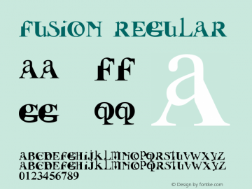 Fusion Regular Fontographer 4.7 16102009 FG4M0000002045 Font Sample