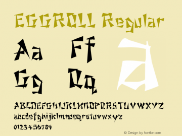 EGGROLL Regular (C) 1992 ATTITUDE, INC. Font Sample