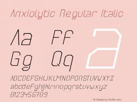 Anxiolytic Regular Italic Unknown图片样张