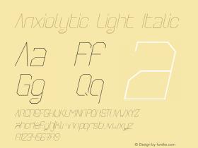 Anxiolytic Light Italic Unknown图片样张