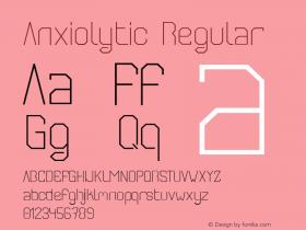 Anxiolytic Regular Unknown图片样张