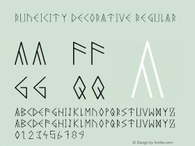Runeicity Decorative Regular Unknown图片样张