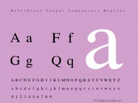BabelStone Tangut Components Regular Version 3.00 June 19, 2013图片样张