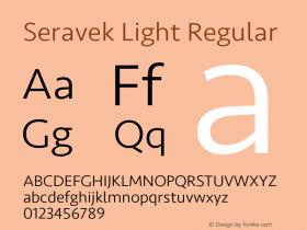 Seravek Light Regular Version 1.000图片样张