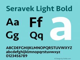Seravek Light Bold Version 1.000图片样张