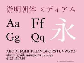 游明朝体 ミディアム Version 2.100;PS 2.1;hotconv 1.0.73;makeotf.lib2.5.5900图片样张