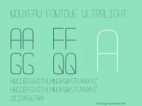 Nouveau Fontdue UltraLight Unknown图片样张