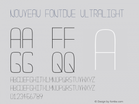 Nouveau Fontdue UltraLight Version 1.0图片样张