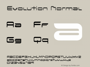 Evolution Normal Version 001.000 Font Sample
