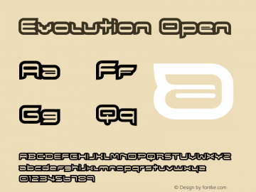 Evolution Open Version 001.000 Font Sample