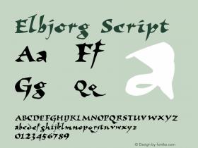 Elbjorg Script 1.0 Sun Feb 07 11:00:31 1993 Font Sample