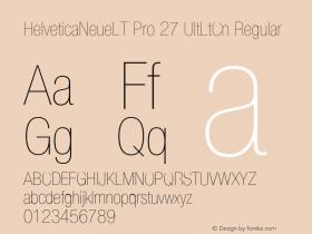 HelveticaNeueLT Pro 27 UltLtCn Regular Version 1.000;PS 001.000;Core 1.0.38 Font Sample