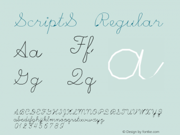 ScriptS Regular Macromedia Fontographer 4.1.3 4/16/97 Font Sample