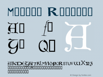 Motley Regular Altsys Fontographer 4.0.3 07.06.1994 Font Sample