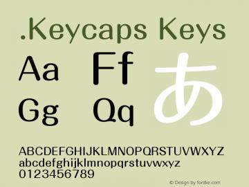 .Keycaps Keys 10.5d23e8 Font Sample