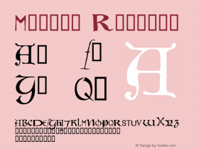Motley Regular Macromedia Fontographer 4.1 26/04/2005 Font Sample